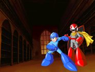The Megaman And Protoman In The Tokyo Japan Parliament Building