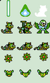 Proto Man (Super Adapter) Sprites of the Rockman 7 FC Extra Editions