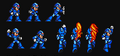Mega Man X Unarmoured Street Fighter Moves for Snes Style