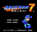 Rockman 7 FC Extra Editions Title Screen