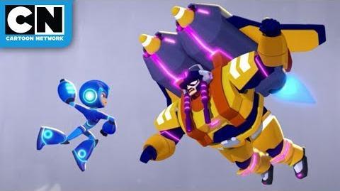 Mega Man Fully Charged Mega Man Battles Blasto Woman Cartoon Network