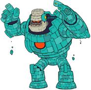 Mega Man 11 Block Man Transformed Concept Art