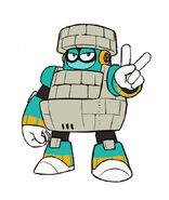 Mega Man 11 Block Man Concept Art