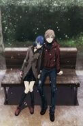 Shin hugging Kanaru