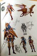 TMS concept art of Caeda as a Draco Knight class