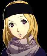P5R Portrait Chihaya Winter Surprised