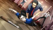 P4D Story Mode Investigation Team, Dojima restain suspicious man