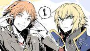 BBTAG Illustration countdown of Yosuke Hanamura and Jin Kisaragi