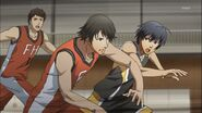 Kou works hard and constrate in his last game