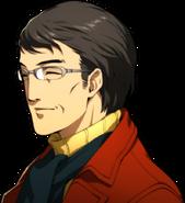 P5R Portrait Shinichi Yoshizawa Grey Glasses Smiling