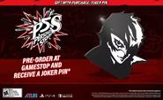 Persona 5 Strikers GameStop Pre-order Pin