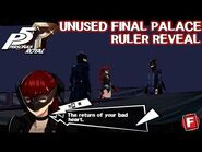 Unused final palace ruler reveal - Persona 5 Royal