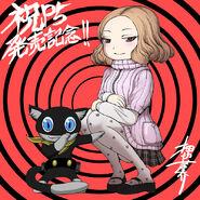 P5 Illustration of Haru and Morgana by Oshikiri Rensuke