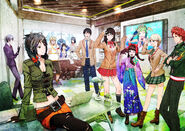 TMS Fortuna Entertainment main cast illustration by toi8