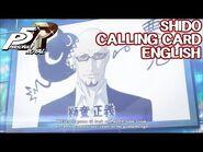 Shido Calling Card ENGLISH - Persona 5 Royal