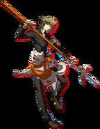 Shadow Ken and Koromaru P4AU Character Artwork