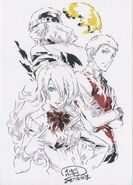 Persona 3 Spring of Birth character postcard 02 by Watanabe Keisuke