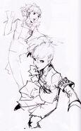 Female protagonist pose