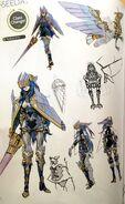 TMS concept art of Caeda as a Falcon Knight class