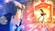 P4D Story Mode Tanami forcully restain and pulled to the next stage
