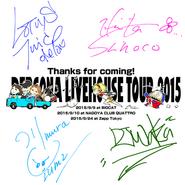 Persona Livehouse Tour 2015 autographed