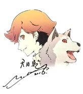 P3M Ken and Koromaru Illustrated by Yukio Hasegawa and Painted by Saori Goda