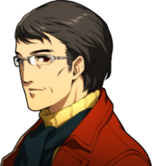 P5R Portrait Shinichi Yoshizawa Gray Glasses