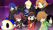 Main playable characters from P4
