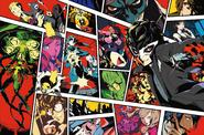 Persona 5 Official Design Work key visual by Shigenori Soejima