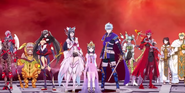 SMTxFE entire main cast at the final battle