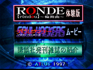 Ronde and Soul Hackers demo disc menu