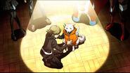 P4AU P4 Shadow Ken and Koromaru innocent look