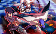 P4AU (P4 Mode, Naoto and Labrys ready for combat)