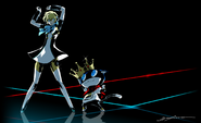 P3D-P5D Illustration of Aigis and Morgana