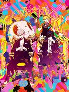 Illustration of the Protagonist, Aigis, Yu, and Teddie by Shigenori Soejima