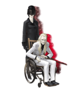 The Old Man in the Wheelchair & Lady in Black (SMTIII HD Art)