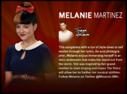 Melanie voice description