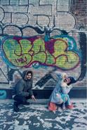 Mel miles graffiti wall