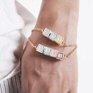Cry baby block bracelet
