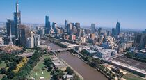 The Yarra running through Melbourne