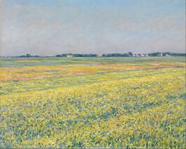 Gustave Caillebotte - The plain of Gennevilliers, yellow fields - Google Art Project