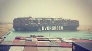 Evergreen boat jam