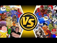 MEME INFINITY WAR! Cartoon Fight Club MEME MOVIE!