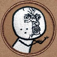 Scout patch of y u no
