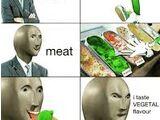 Meme man vs vegetal