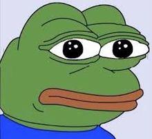 Sad Pepe The Frog