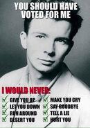 Poster politico rickroll