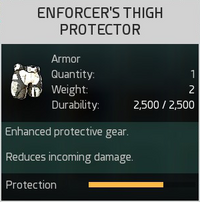 Enforcer's Thigh Protector