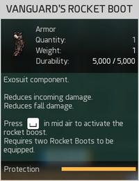 Vanguard's Rocket Boot