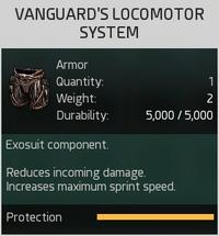 Vanguard's Locomotor System